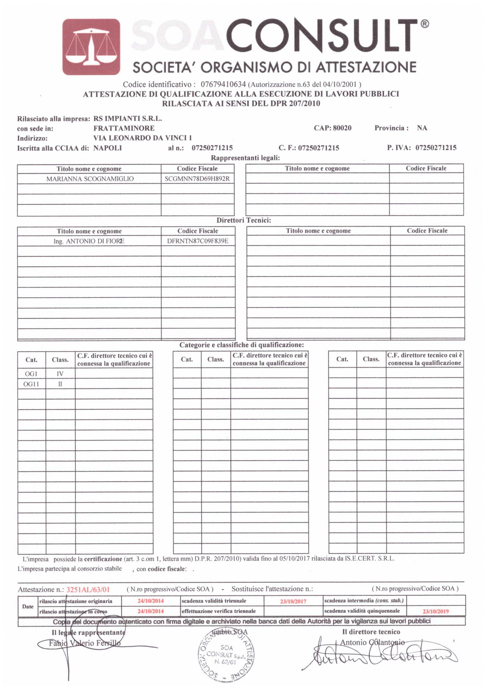 Certificato conformit impianto elettrico good certificato - Certificato impianto elettrico a norma ...